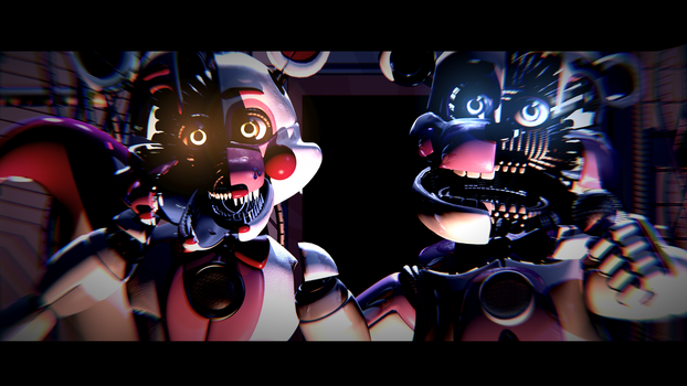 Funtime Watching You At Night! - [FNaF Poster] by ChuizaProductions
