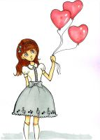 heart baloon by EvilYuki