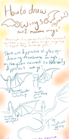 How I draw Wings: part 2- Membrane Wings! by Feniiku
