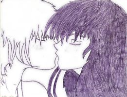 Couple Kissing in Pen by Paige-Gale9507