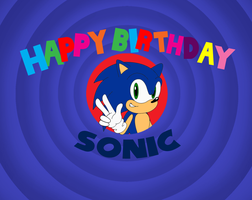 Happy 19th Birthday Sonic by LooneyTunerIan