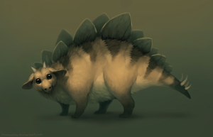 Mammalian stegosaurus by MoaWallin