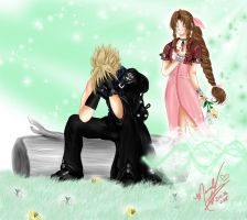 And He Weeps For Her by CloudxAeris