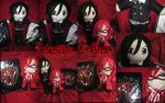 Sebastian and Grell Plushies by VilleVamp