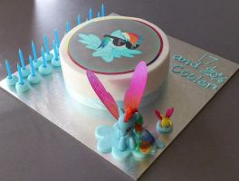 Rainbow Dash birthday cake c: by XNeonFeather