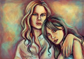 Deschanel Sisters by airyfairyamy