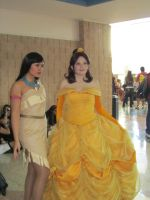 Pocohantas and Belle by Verlerious