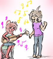 Layin' down a cool jam... by tinluva