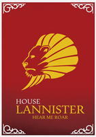 House Lannister Minimalist Poster by cstm