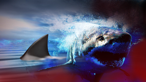 Shark Attack GFX by monkeynutt