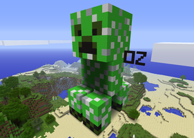 Minecraft Creeper Side Veiw by OzTheJackal