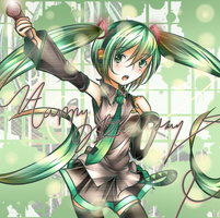 Hatsune Miku 5th Anniversary by Scuroro