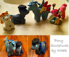 Pony Sculptures by Ixtaek
