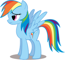 Rainbow Dash - Bored - Vector Only by TheFlutterKnight