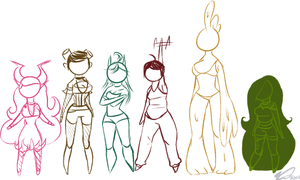 Girls: Height Chart by FacelessKiwi