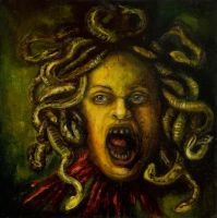 Self-portrait as Medusa by Riinunen