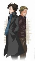 Sherlock and John by Angels-Leaf