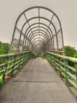 Footbridge over Thruway, NY by Lectrichead