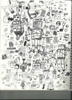Robot Drawings and Other Crap by xXNiueXx