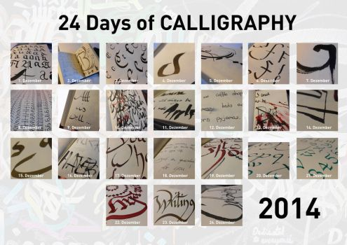 24 days of calligraphy by Cajyin