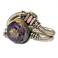 The Purple Bee Steampunk Ring by CatherinetteRings