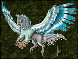 Isei the hippogriff -Finished- by DeerDandy
