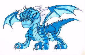 Blue Dragon Markers by TheJokesOnYou