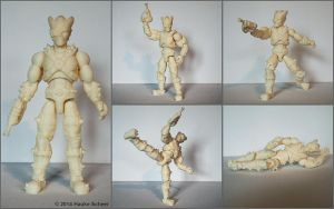 3D printed alien figure unpainted by hauke3000