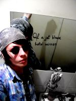 33. Of a jet black hotel mirror by diiwaanc