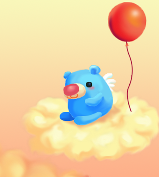 blue bear at the cloud by zuperdzigh