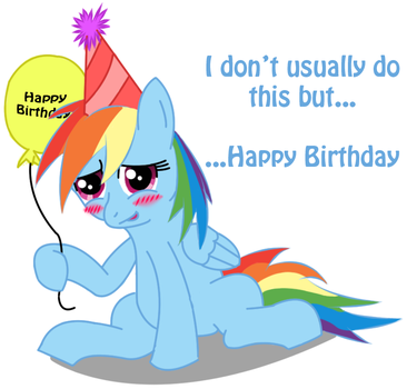Rainbow Dash: Happy Birthday by craig8222