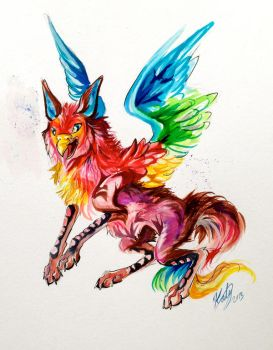 Rainbow Griffin by Lucky978
