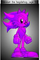 neveah the hedgehog by m1tyz1t