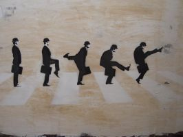 Silly Walks of Abbey Road by PositiveZero