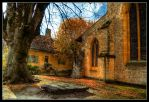 HDR Behind the Abbey by sandpiper6