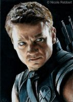 Hawkeye sketch card by Quelchii
