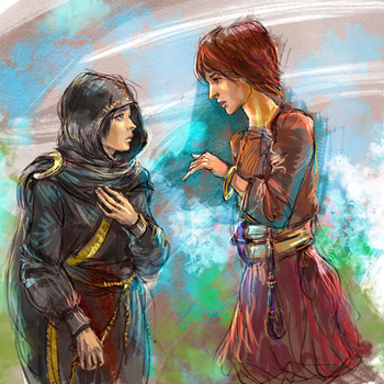 Fia and Lagle By Jesterry by darthmadigan