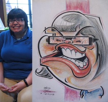 Caricature- michelle smile 08 by chrisCHUA