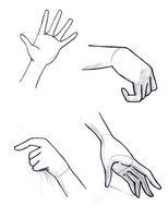 Hand Reference Sheet by Sapheron-Art