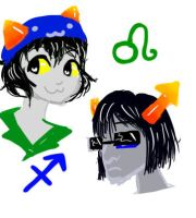 Equius and Nepeta by saevuswinds