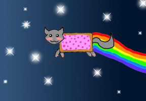 Nyan-Cat by Spelledheart