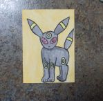 Umbreon ACEO by chkimbrough