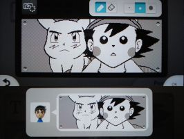 Miiverse - Ash and Pikachu Face Swap by MAST3RLINKX