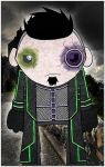 green and purple goth dude by twistedandgifted