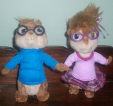 Simon and Jeanette plush by ChipmunkRaccoonOz