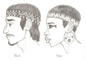 Paris and Helen of Troy Busts by DaBrandonSphere