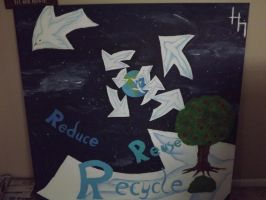 Reduse, Reuse, Recycle large masterpiece by GriffinPhillis