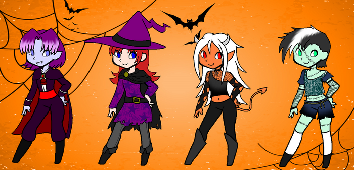 Femboy Halloween Adopts (CLOSED) by FunFancyFree-Adopts