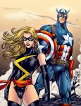 Ms. Marvel and Captain America by AlonsoEspinoza