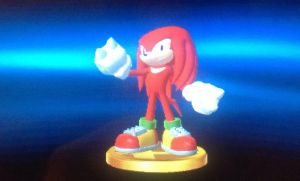 SSB4 Knuckles trophy by 3Bros1Mission